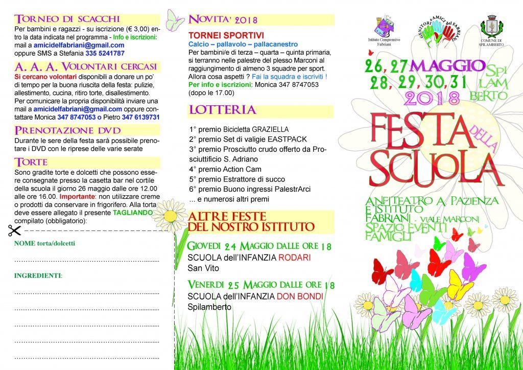 FESTA DELLA SCUOLA 2018 – 26, 27, 28, 29, 30, 31 maggio @ Area Anfiteatro Spilamberto e Scuole San Vito  | Spilamberto | Emilia-Romagna | Italia
