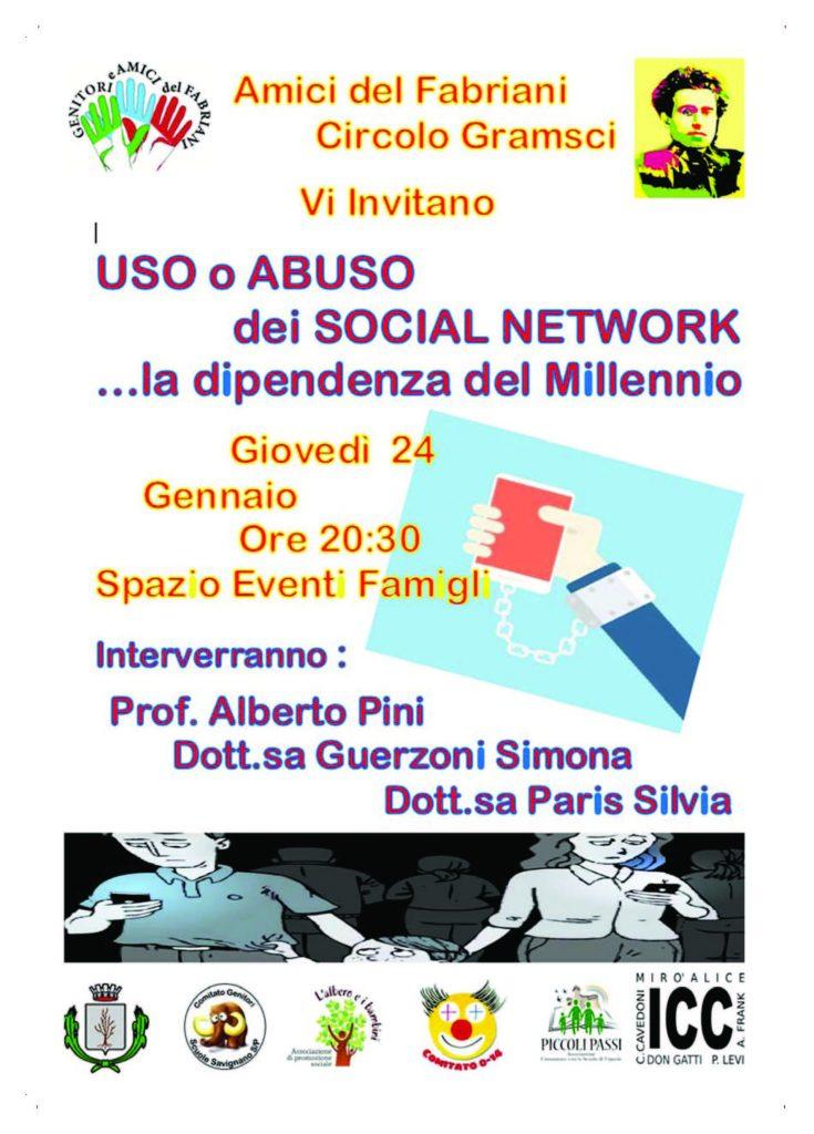 SOCIAL NETWORK ... dipendenza - giovedì 24 gennaio 2019 @ Spazio Eventi Famigli | Spilamberto | Emilia-Romagna | Italia