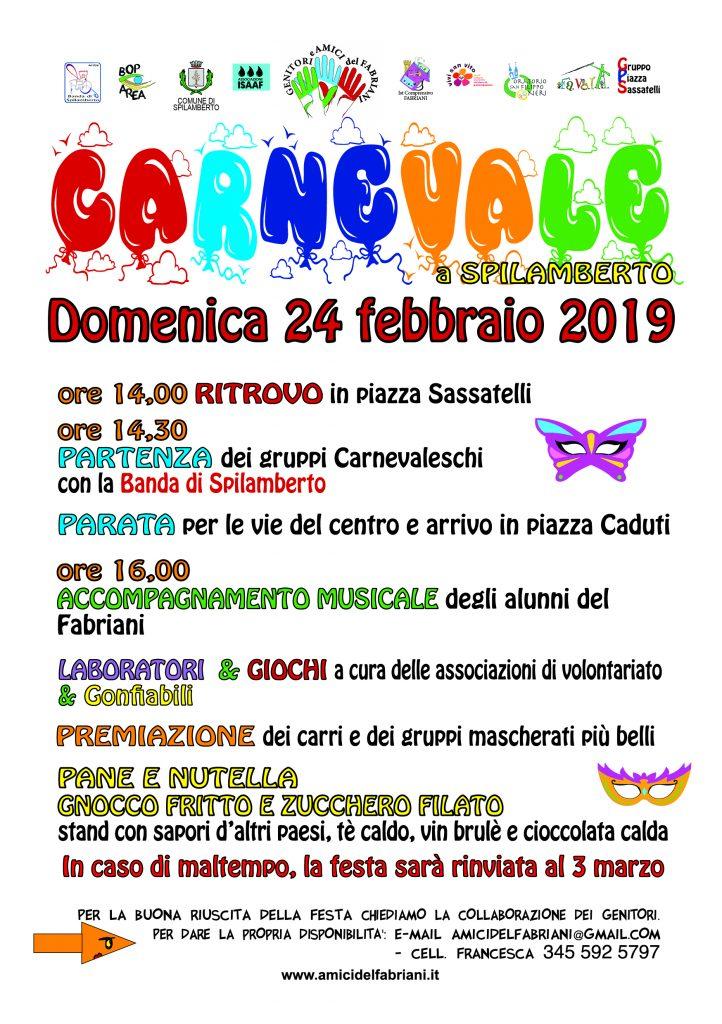 CARNEVALE 2019 - domenica 24 febbraio 2019 @ Spilamberto | Emilia-Romagna | Italia